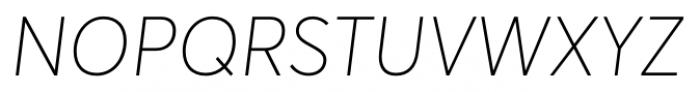 Averta Thin Italic Font UPPERCASE