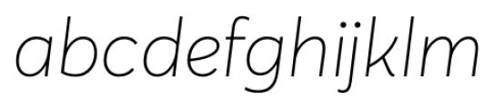 Averta Thin Italic Font LOWERCASE