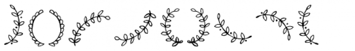 Avaline Extras Ornaments Font OTHER CHARS