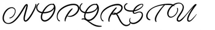Ave Utan Swash Font UPPERCASE