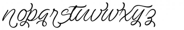 Ave Utan Swash Font LOWERCASE