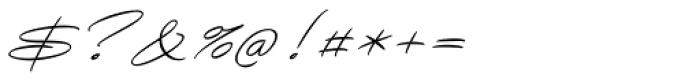 Avelana Thin Italic Font OTHER CHARS