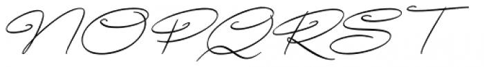 Avelana Thin Italic Font UPPERCASE