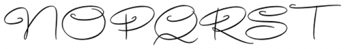 Avelana Thin Font UPPERCASE