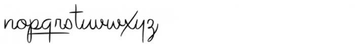 Avelana Thin Font LOWERCASE