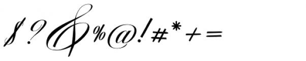 Avelon Script Regular Font OTHER CHARS