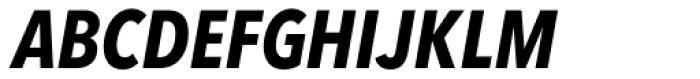 Avenir Next Pro Condensed Bold Italic Font UPPERCASE