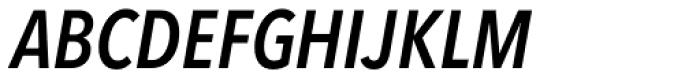 Avenir Next Pro Condensed Demi Italic Font UPPERCASE