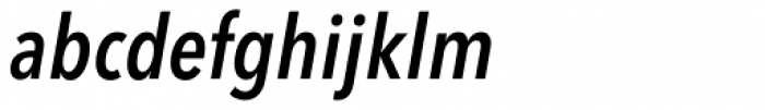 Avenir Next Pro Condensed Demi Italic Font LOWERCASE