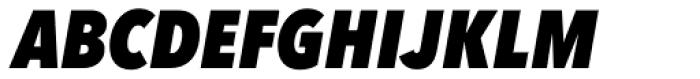 Avenir Next Pro Condensed Heavy Italic Font UPPERCASE