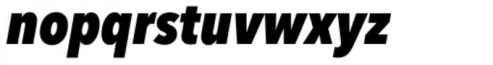Avenir Next Pro Condensed Heavy Italic Font LOWERCASE
