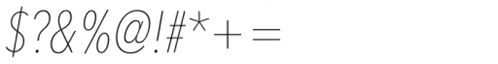 Avenir Next Pro Condensed UltraLight Italic Font OTHER CHARS