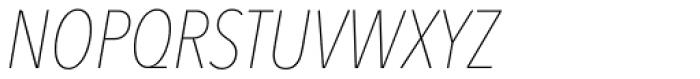 Avenir Next Pro Condensed UltraLight Italic Font UPPERCASE