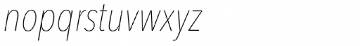 Avenir Next Pro Condensed UltraLight Italic Font LOWERCASE