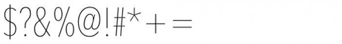 Avenir Next Pro Condensed UltraLight Font OTHER CHARS