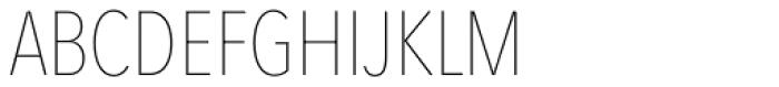 Avenir Next Pro Condensed UltraLight Font UPPERCASE