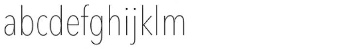 Avenir Next Pro Condensed UltraLight Font LOWERCASE