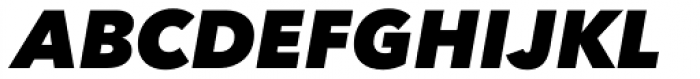 Avenir Next Pro Heavy Italic Font UPPERCASE