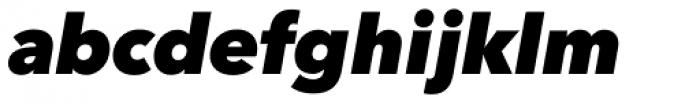 Avenir Next Pro Heavy Italic Font LOWERCASE