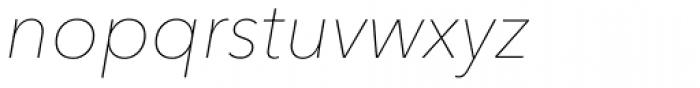 Avenir Next Pro UltraLight Italic Font LOWERCASE