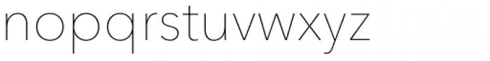Avenir Next Pro UltraLight Font LOWERCASE