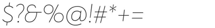 Averta ExtraThin Italic Font OTHER CHARS