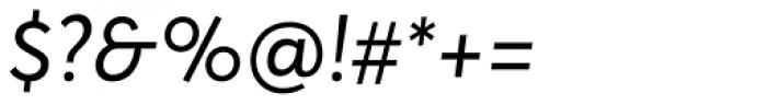 Averta Italic Font OTHER CHARS