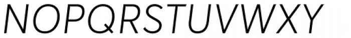 Averta Light Italic Font UPPERCASE