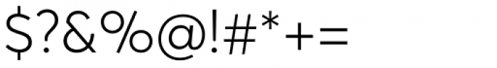 Averta Light Font OTHER CHARS