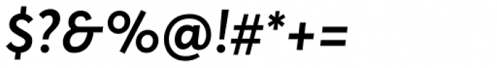 Averta SemiBold Italic Font OTHER CHARS