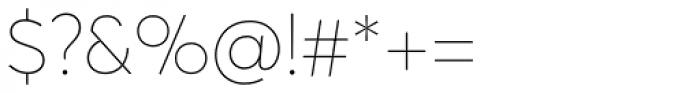Averta Std ExtraThin Font OTHER CHARS
