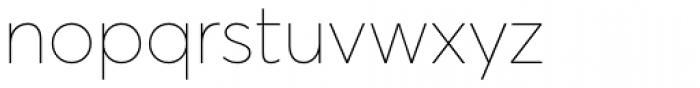 Averta Std ExtraThin Font LOWERCASE