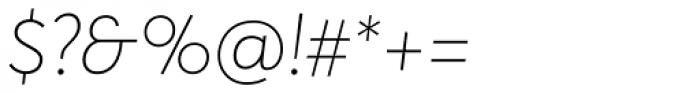 Averta Thin Italic Font OTHER CHARS