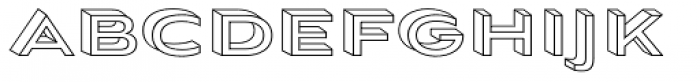 Aviano Sans Layers 3-D Wireframe Font LOWERCASE