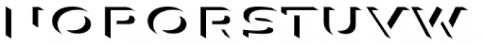 Aviano Sans Layers 3-D Font LOWERCASE