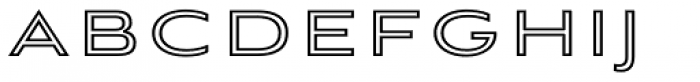 Aviano Sans Layers Outline Heavy Font UPPERCASE