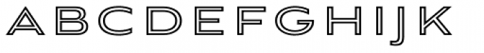 Aviano Sans Layers Outline Heavy Font LOWERCASE