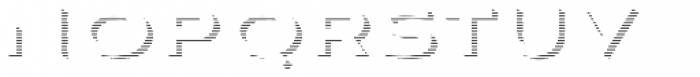 Aviano Sans Layers Shadow Horizontal Font UPPERCASE