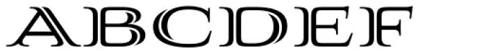 Aviano Silk Black Font UPPERCASE