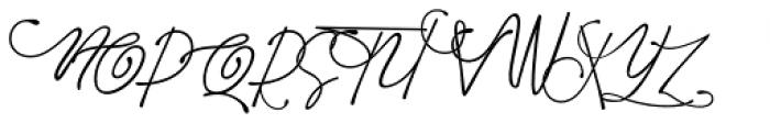 Avital Script Font UPPERCASE