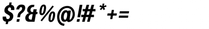 Avus Pro Condensed Medium Italic Font OTHER CHARS