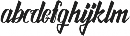 Awesome Display Typefaces otf (400) Font LOWERCASE