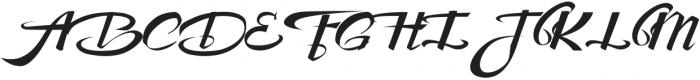 Awesome Lower Swash otf (400) Font UPPERCASE