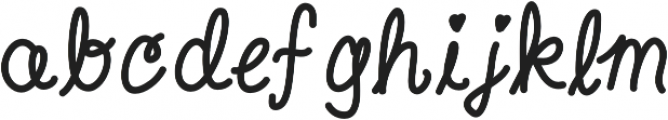 Aweswell Medium otf (500) Font LOWERCASE