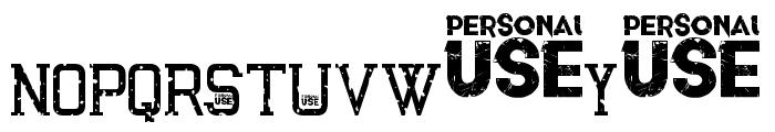 Awakened Grunge Font LOWERCASE