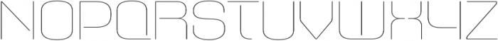 Axaxax UltraLight otf (300) Font UPPERCASE