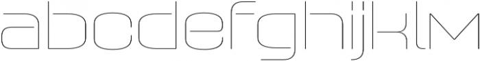 Axaxax UltraLight otf (300) Font LOWERCASE