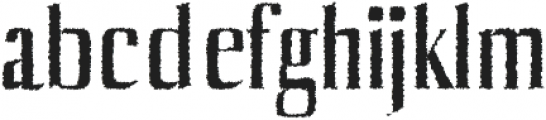 Axell Distorted otf (400) Font LOWERCASE
