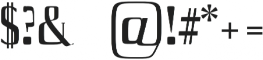 Axell Medium otf (500) Font OTHER CHARS