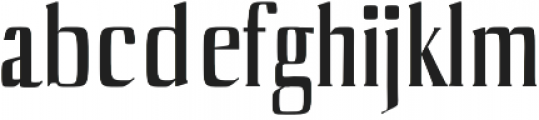 Axell otf (400) Font LOWERCASE
